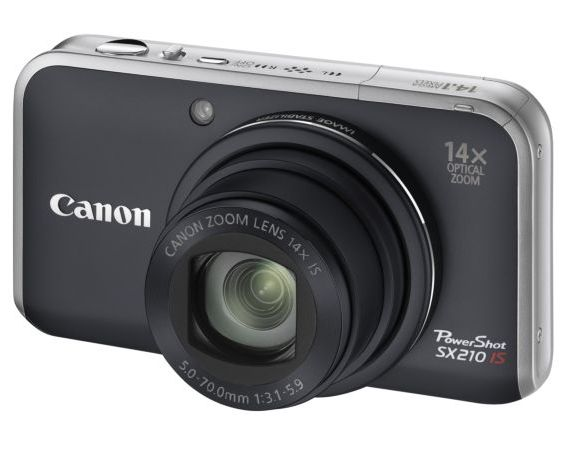 Canon PowerShot SX210 IS front view