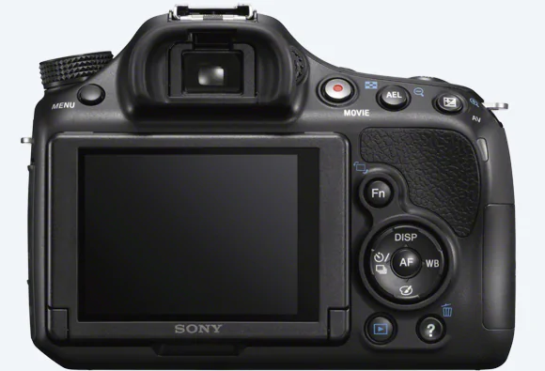 Sony SLT-A58 back view